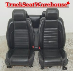 2013 Mustang Convertible GT BLACK LEATHER Front and Rear Seats