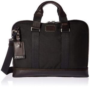 Tumi Alpha Bravo Andrews Slim Briefcase, Hickory, One Size