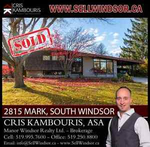 2815 MARK, SOUTH WINDSOR (SOLD) Cris Kambouris 519.995.7600