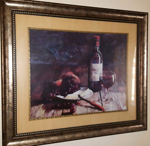 Wine, Cheese & Grapes Portrait