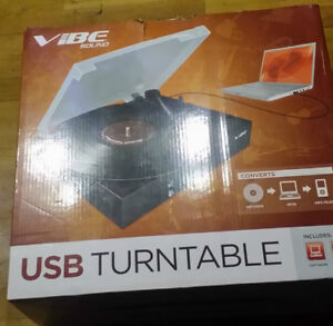 Vibe Brand USB Turntable  33 rpm and 45 rpm as new