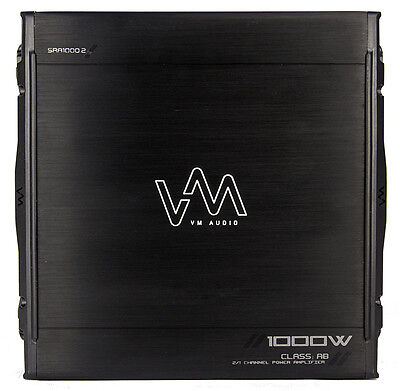New VM Audio SRA1000.2 1000W 2 Channel Car Amplifier Power Amp MOSFET Stereo on Rummage