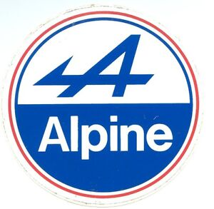 Autoadesivo-ALPINE-13-cms-Renault-A310-A110-berlinette-R5-R8-vhc-rally