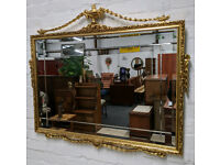 Ornate Gilt Framed Wall Mirror (DELIVERY AVAILABLE)