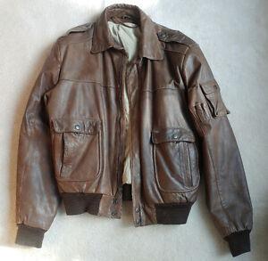 Men's leather jacket motorcyle cruising