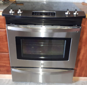30 in. Slide-in, 4 burners flat top Electric Range Stainless