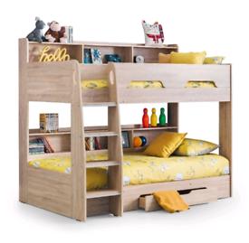 bunk bed oak effect wooden effect storage