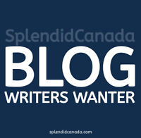 Creative writers needed for Canadian blog