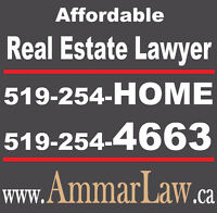 Real Estate Lawyer: 519-254-HOME