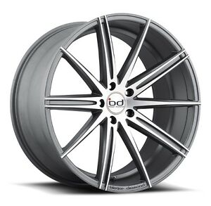 "MAGS 22"" GRAPHITE / MACHINED JANTES  22 "" WHEELS STAGGERED"
