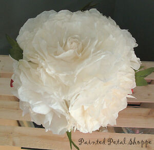 Cream Coffee Filter Peony in Red Watering Can/Spring Arrangement Belleville Belleville Area image 3