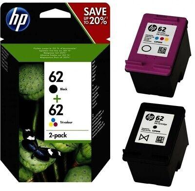 2 Original HP 62 TINTE PATRONE ENVY 5540 5541 5542 5543 5544 5545 5546 5640 5642