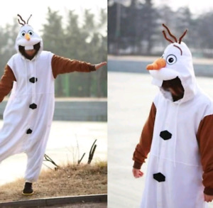 Olaf Costume Adult One Size - Brand New