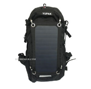 Solar Powered Backpack with 7Watts Solar Panel Black