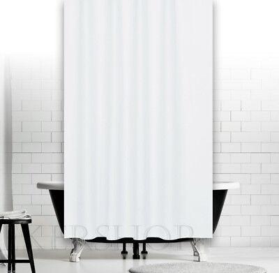 Cortina de Ducha Tela Para Y Bañera 120x200cm Color Único Blanco Incluye...