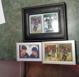 Rare O  Pee Chee Wayne Gretzky Collector & Game Cards In Frames