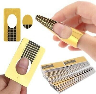 Nail Form Stickers Self adhesive Extension UV Builder Tips Gel Forms