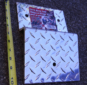 ALUMINUM TRUCK OR TRAILER BIKE RAMP PLATE