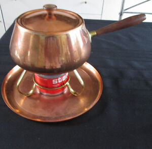 COPPER FONDUE SET En Cuivre West Island Greater Montréal image 1