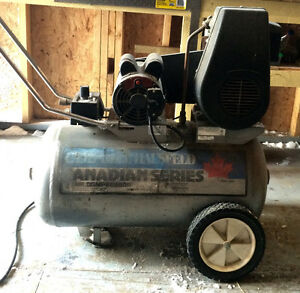 4 HP compressor with 20 gallon tank .