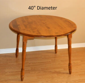 "Solid Wood Dining Table Expandable 40""-60"""