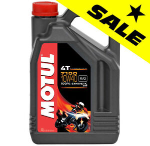 ★★ SUPER SALE ★★ Motul 7100 FULL SYNTHETIC 10W40 Motorcycle Oil