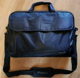 """15.6"""" Black Laptop Bag Over the Shoulder/Hold on Zip Fastenings"""