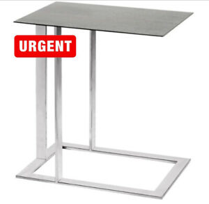 High End Designer Stainless Steel Side Table