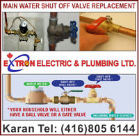 Main Water Shut Off Valve Replacement License Plumber Mississaug