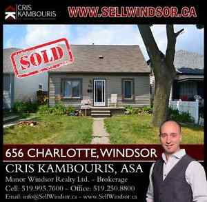 656 CHARLOTTE, WINDSOR (SOLD) Cris Kambouris 519.995.7600