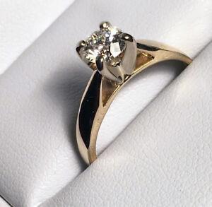 $6500 APPRAISAL! 1/2 Carat Wedding Engagement Set SEE VIDEO