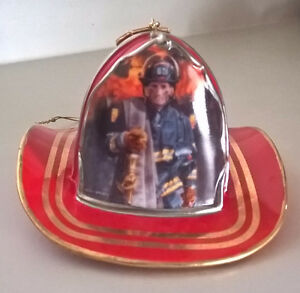Courage Under Fire HONOR Ornament Fireman Firefighter Hat