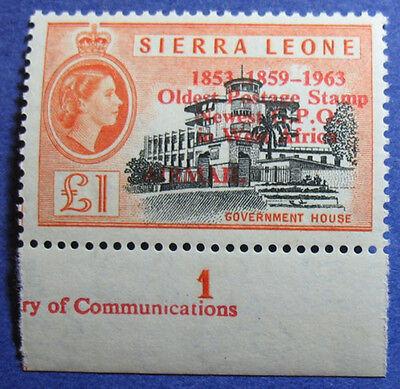 1963 SIERRA LEONE 1P SCOTT# C13 S.G.# 284 UNUSED CS08095