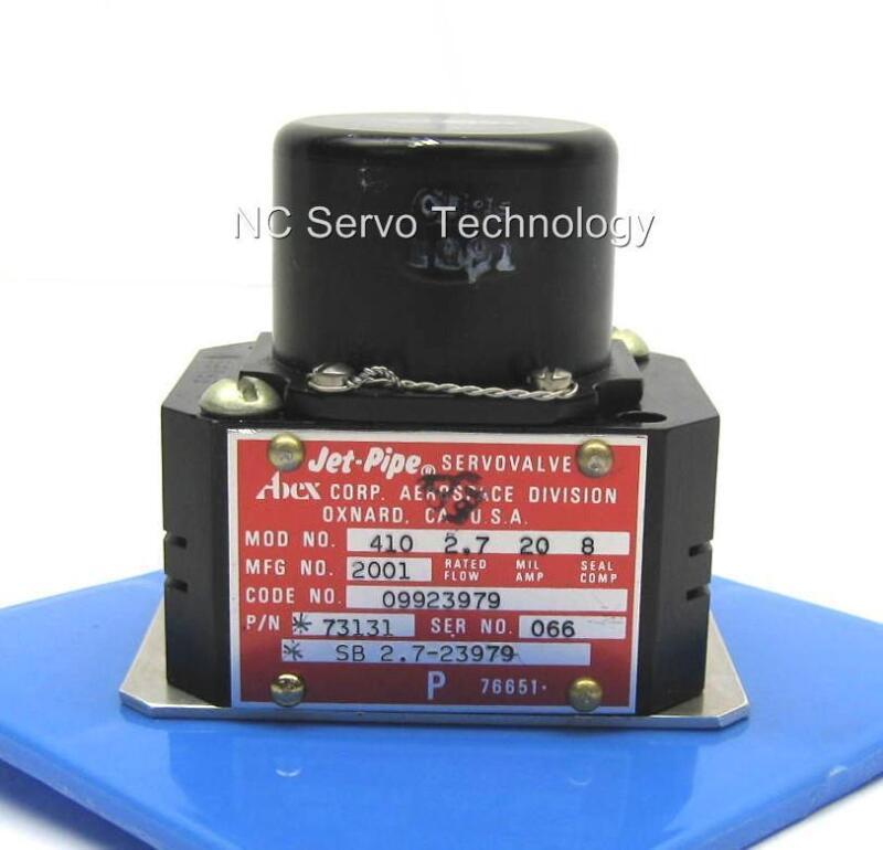 New Abex 410-2001 P/n 73131 Jet-pipe Servo Valve W/12 Month Warranty