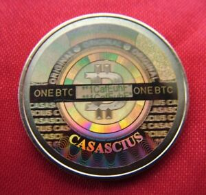 2013 Brass Casascius Physical Bitcoin loaded with 1 BTC