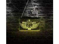 rock N Roll Rock Music Multi-colores Changing LED Light Sing Gift Iscustomized