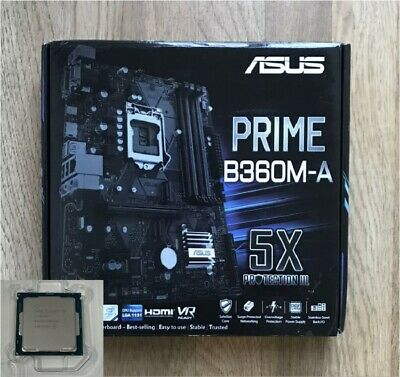 Asus Prime B360M-A Desktop Motherboard LGA-1151 With Intel Core i3 9300f CPU