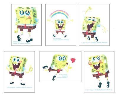 Spongebob Tattoos (12 Spongebob Squarepants Temporary Tattoos Kid Party Goody Loot Bag Favor)