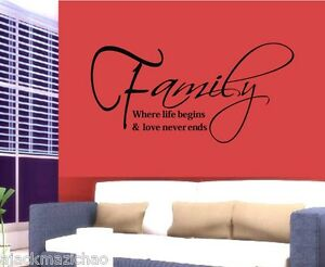 Family-Live-stickers-wall-Decal-Removable-Art-Vinyl-Decor-Home-Kids-Au-Post