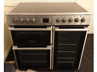 b44 stainless steel leisure 90cm range cooker comes with warranty can be delivered or collected