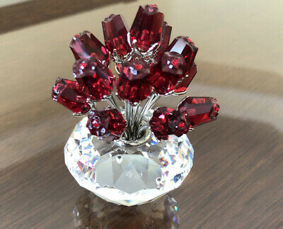 Swarovski crystal figurines flowers Bouquet