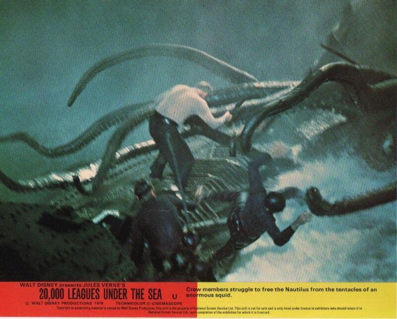 20,000 Leagues Under The Sea  lobby card print # 8 James Mason