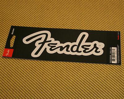 910-0255-000 Fender™ Guitar Bass & Amp Logo Sticker White Matte