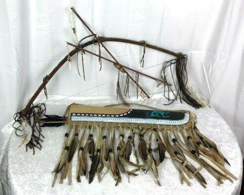 Handmade Native American Navajo Quiver Bow and Arrow Set