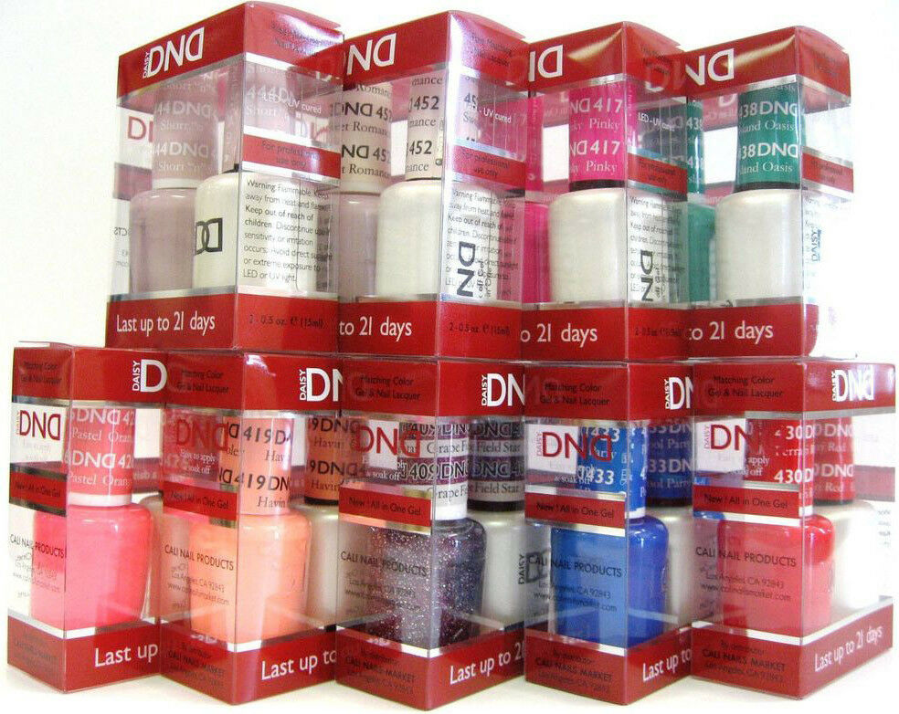 DND Daisy Soak Off Gel Polish Duo full size .5oz