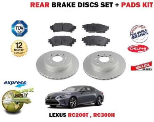 FOR LEXUS RC200T 2.0 RC300H 2.5 2014-->  REAR BRAKE DISCS SET + DISC PAD KIT