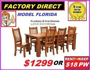 New Dining Suite 9 Piece Chunky. CASH $1299 Or RENT $18 P/W Ipswich Region Preview