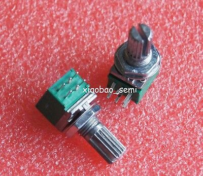 10pcs RK097G B20K Audio Amplifier Sealed Dual Potentiometer 15mm Shaft 6pins for sale  China