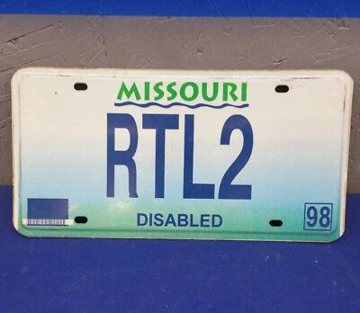 MISSOURI MO LICENSE PLATE DISABLED RTL-2
