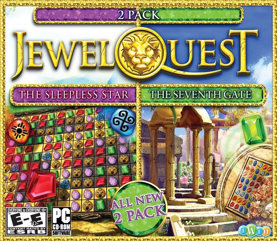 Computer Games - Jewel Quest The Sleepless Star 5 & Seventh Gate 3 PC Game Window 10 8 7 Computer